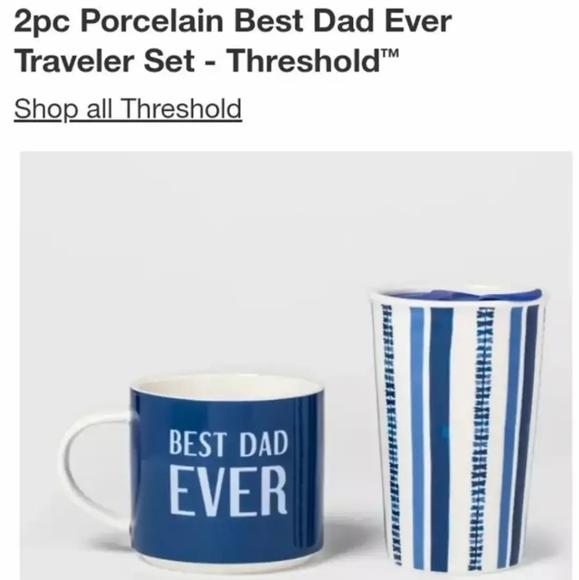 BEST DAD EVER 2 PACK PORCELAIN MUGS